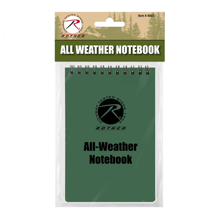 Rothco Green All Weather Waterproof Notebook | Luminary Global