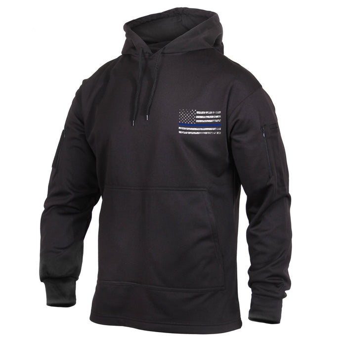 Rothco Thin Blue Line Concealed Carry Hoodie Black Luminary Global