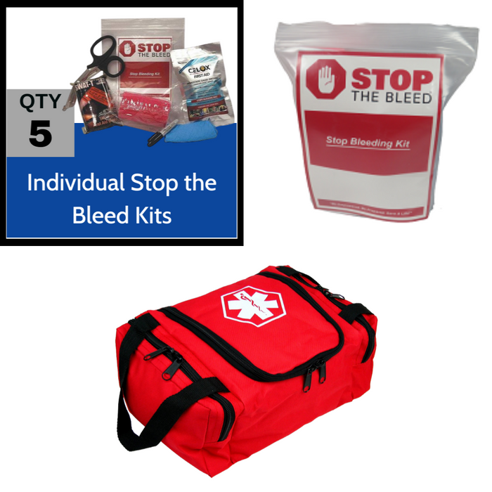 CELOX 5 Person Stop the Bleed Kit with SWAT-Tourniquets