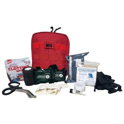 Red Elite First Aid Military IFAK - Individual First Aid Kit