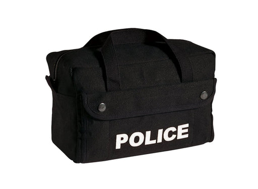 Rothco Canvas Small Black Police Logo Gear Bag | Luminary Global