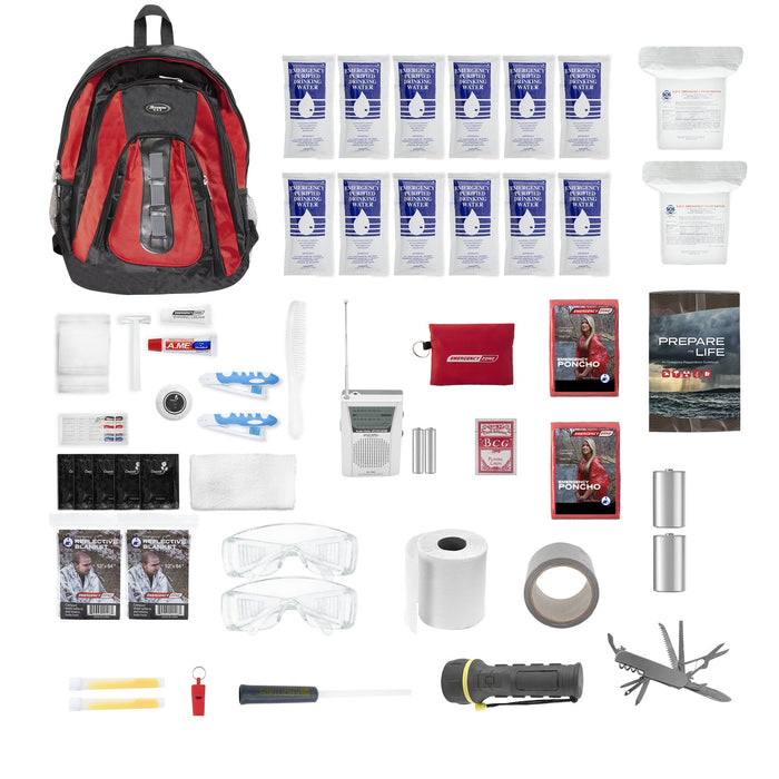 The Essentials Deluxe Complete 72-hour 2 Person Backpack Survival Kit