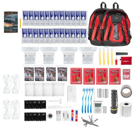 The Essentials Deluxe Complete 72-hour 4 Person Backpack Survival Kit