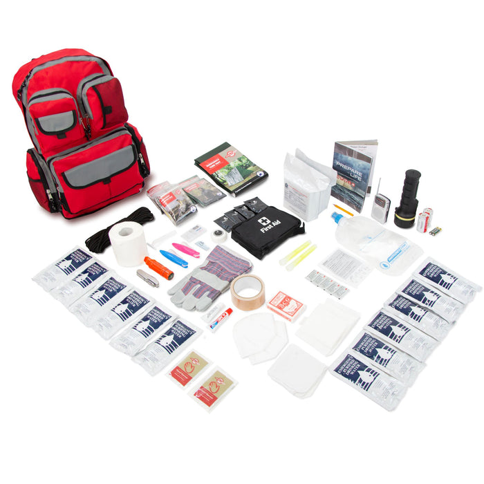 2 Person Family Prep 72 Hour Survival Kit Go-Bag - Emergency Zone