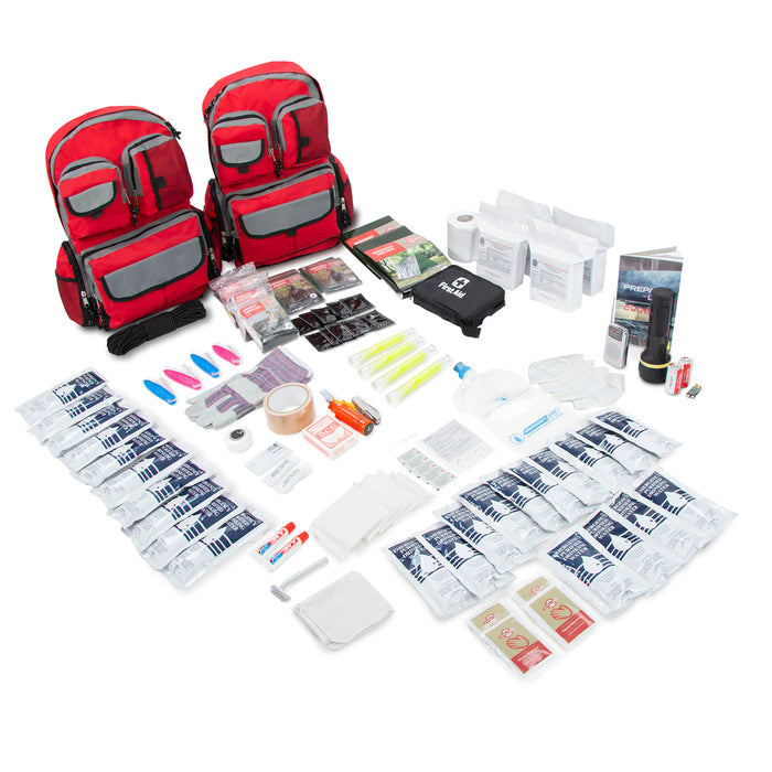 4 Person Family Prep Survival Kit Go-Bag 72 Hour