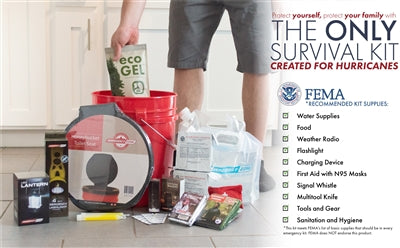 Complete Hurricane Survival Kit - 4 Person - Emergency Zone