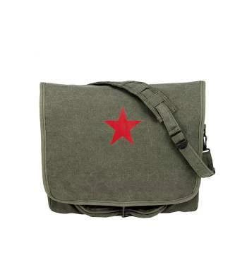 Rothco Vintage Canvas Shoulder Bag With Red Star | Luminary Global