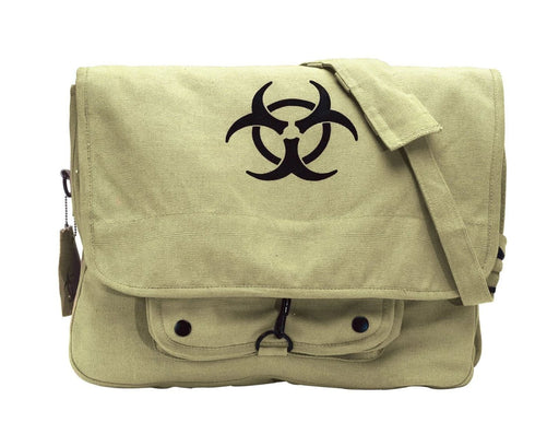Rothco Vintage Canvas Paratrooper Bag w/ Bio-Hazard Symbol | Luminary Global