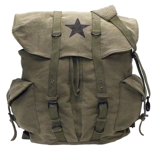 Rothco Vintage Weekender Canvas Backpack with Star | Luminary Global
