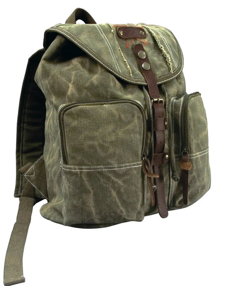 Rothco Stone Washed Canvas Backpack with Leather Accents | Luminary Global