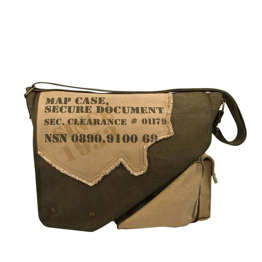 Rothco Vintage Canvas Two-Tone Imprinted Map Bag | Luminary Global
