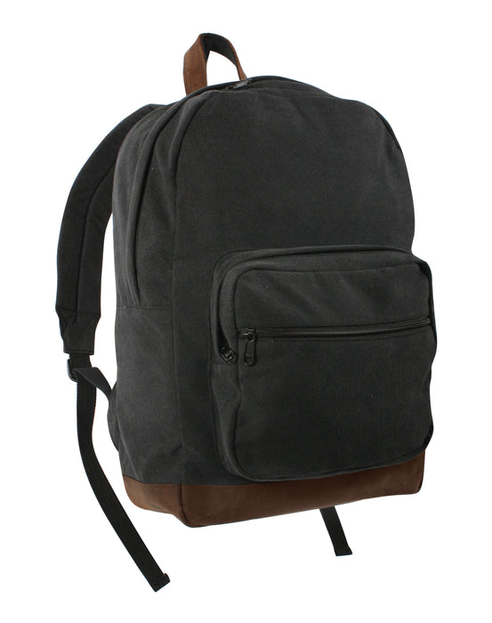 Rothco Vintage Canvas Teardrop Backpack with Leather Accents | Luminary Global