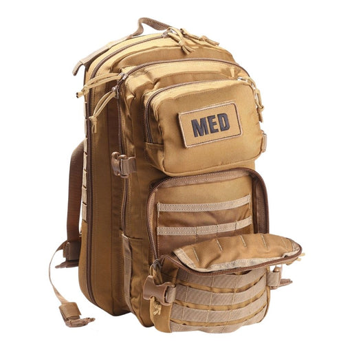 Luminary Tactical Trauma Backpack Tan Open
