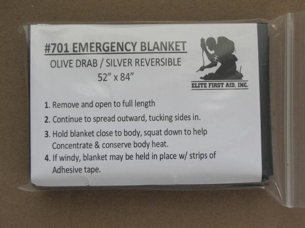 Emergency Blanket - OD - 25 Pack - Elite First Aid, Inc.