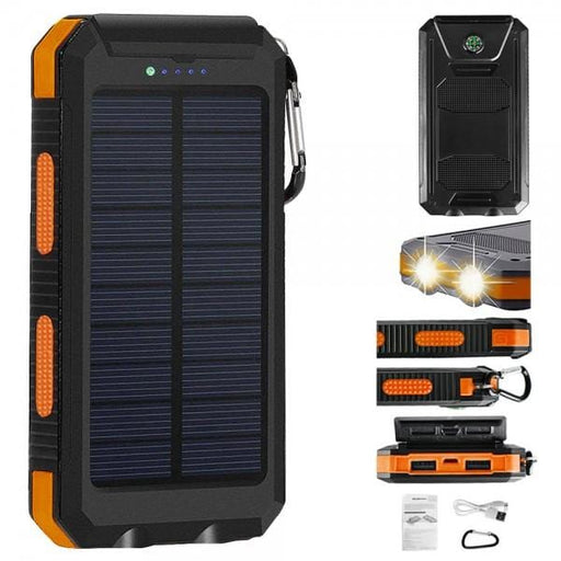 10000 mAh Portable Solar Panel Power Bank | Solar Panel Power Bank | Portable Power Bank