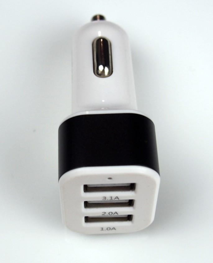 Car Charger 3 ports compact design, 3.1A 5V  FCC, CE, RoHS | 3 ports Charger | Car Charger