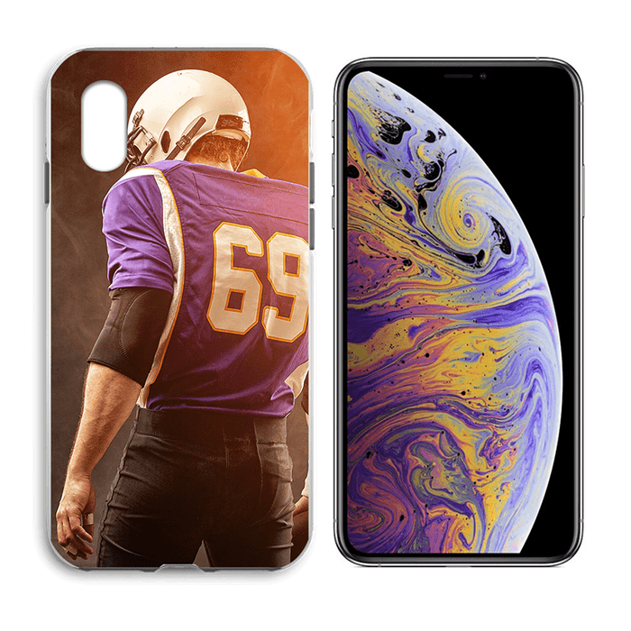 iPhone XS - Custom Liquid Silicone Hard  Case | iPhone XS Case | iPhone XS Hard Case