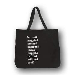 #PackGoals Custom Dog Names /large tote