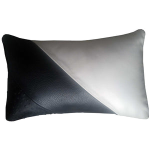 Pillow - Leather (Black and white) <b>SOLD</b>