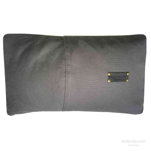 Pillow - Leather (Black, white and python embossed) <b>SOLD</b>