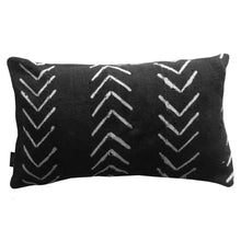 Load image into Gallery viewer, Pillow - Mudcloth Black