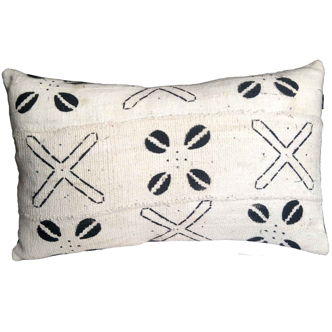 Pillow - Mudcloth White