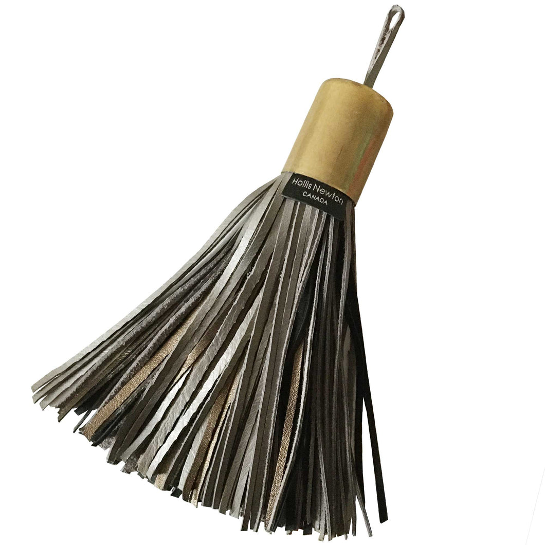 Leather Tassel - Metallic