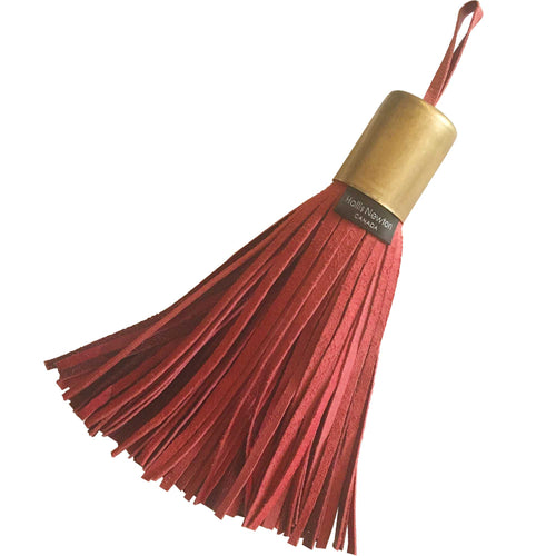 Leather Tassel - Red