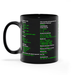 Python cheat sheet - Black Mugs