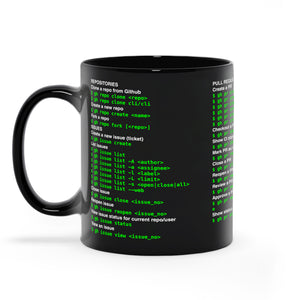 Github CLI cheat sheet - Black Mugs