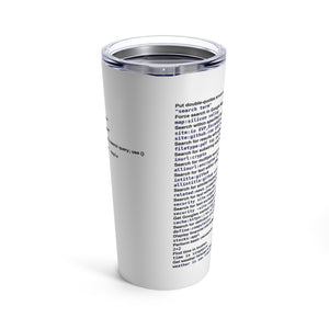 Google power usage cheat sheet - Tumbler 20oz - Remember The API