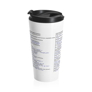 Unix/Linux cheat sheet - Stainless Steel Travel Mug - Remember The API