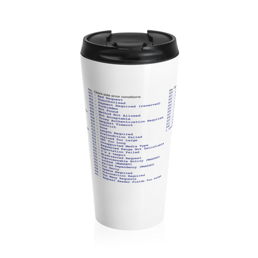 HTTP status code cheat sheet - Stainless Steel Travel Mug - Remember The API