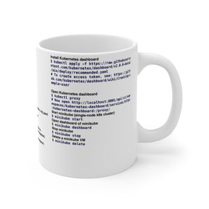 Kubernetes CLI cheat sheet - Mug 11oz - Remember The API