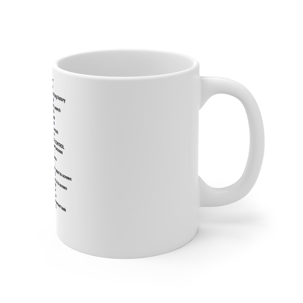 Bash shortcut cheat sheet - Mug 11oz