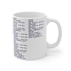 Computational complexity cheat sheet - Mug 11oz - Remember The API