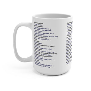 Docker CLI cheat sheet - Mug 15oz
