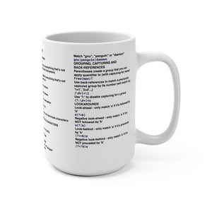 Regex cheat sheet - Mug 15oz - Remember The API