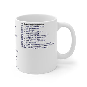 HTTP status cheat sheet - Mug 11oz - Remember The API