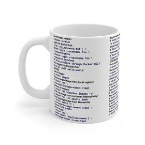 Docker CLI cheat sheet - Mug 11oz