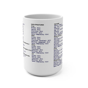 Computational complexity cheat sheet - Mug 15oz - Remember The API