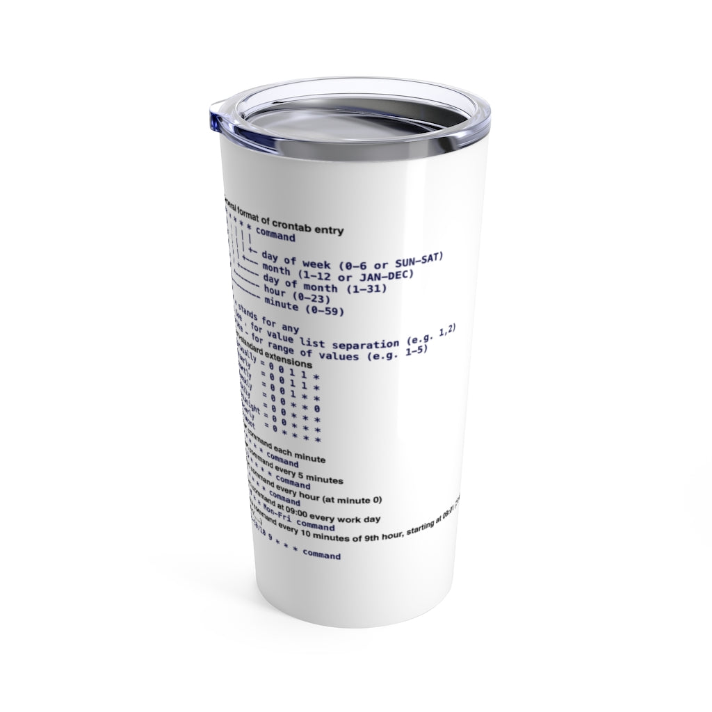Cron cheat sheet - Tumbler 20oz - Remember The API