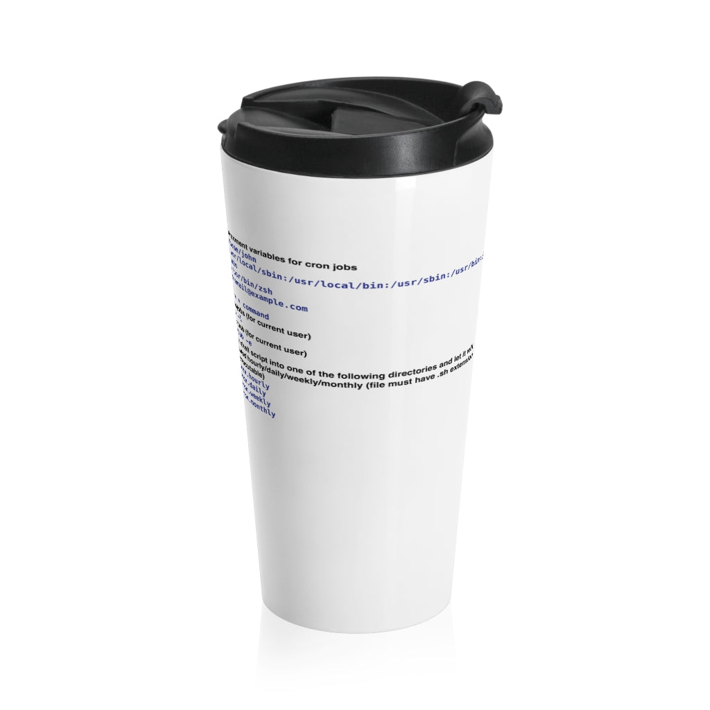 Cron cheat sheet - Stainless Steel Travel Mug - Remember The API