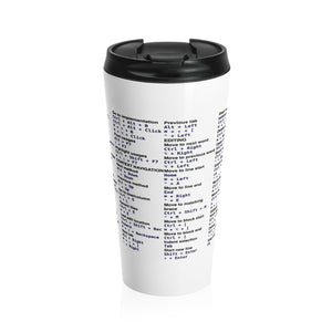 IntelliJ IDEA shortcut cheat sheet - Stainless Steel Travel Mug