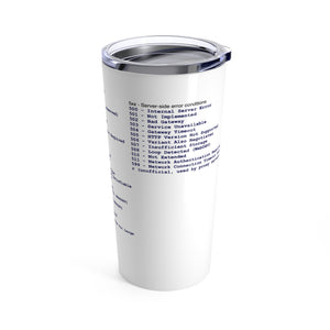 HTTP status code cheat sheet - Tumbler 20oz - Remember The API