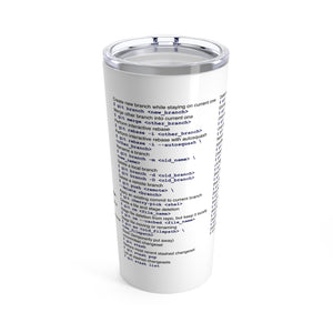 Git cheat sheet - Tumbler 20oz - Remember The API