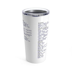 Computational complexity cheat sheet - Tumbler 20oz - Remember The API
