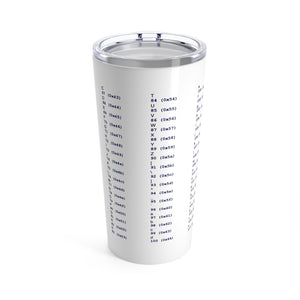 ASCII cheat sheet - Tumbler 20oz - Remember The API