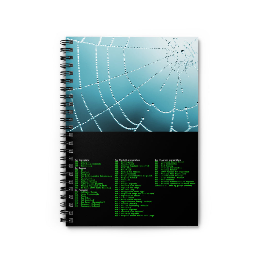 HTTP status code cheat sheet - Spiral Notebook - Ruled Line - Remember The API