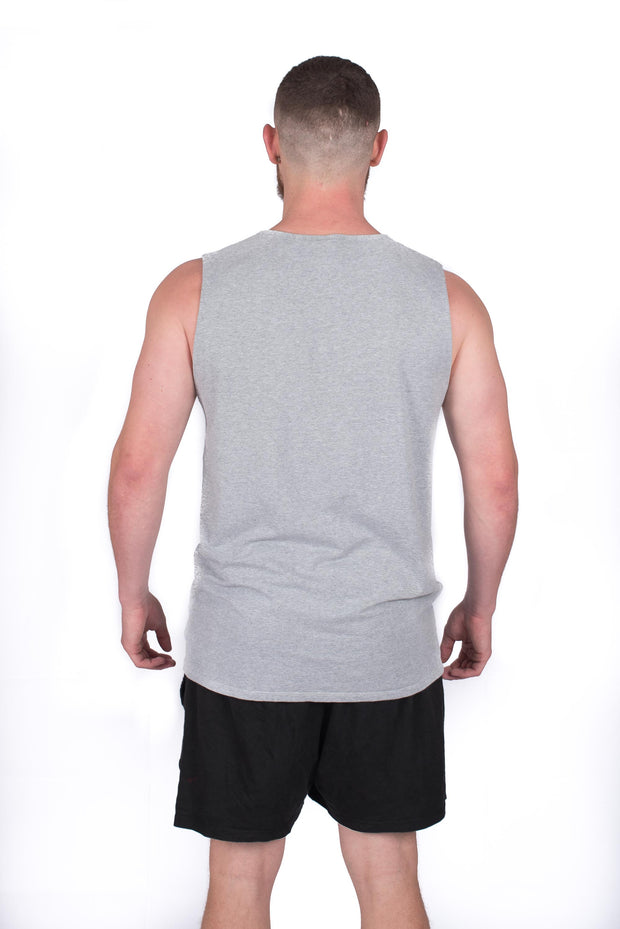 MKP Tank Top - Grey on Grey | Major Key Physiques | Australia Workout Wear